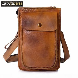 """Quality Leather Multifunction Casual Daily Fashion Small Messenger One Shoulder Bag Waist Belt Bag 6"""" Phone Pouch 021lg"""