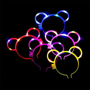 New product Cat Ear Led Headband Hair Hoop Band Light Birthday Wedding Party Accessories Headwear Masquerade Decorations Cute