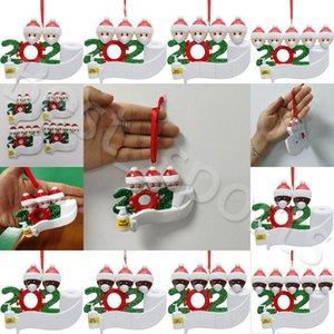 ПВХ Рождественская елка 2020 Xmas висячие украшения Санта-Клаус Рождество Семья Подвеска Главная Xmas партия украшения YYA471 50PCS