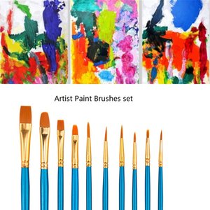 Halloween Makeup Body Paint Brushes Cosplay Art Schmink Face Painting Make Up Brush Set Tools Kit Cosmetic Wooden