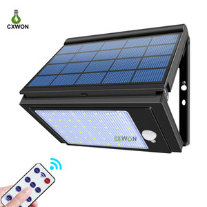 Lumière solaire à LED pliante 48LÉS Sécurité murale de 1000 lm Sécurité murale solaire 6 modes de travail Lampe solaire de jardin extérieur