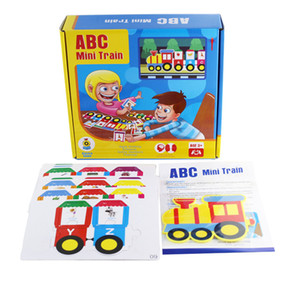 English alphanumeric train intelligence children board game toys interest cultivation learning