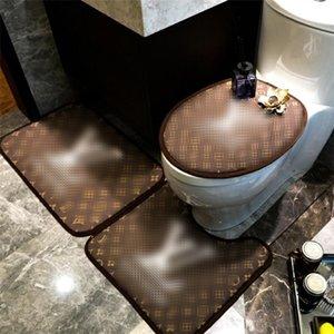 Lettre rétro imprimé Siège de toilette Couverture INS Mode personnalité charme de bain tapis Slip intérieur non Designer Post-it toilettes Mat