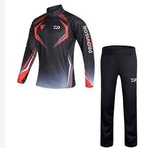2020 Yeni Yaz Erkek Balıkçılık Giyim Açık Hız Kuru Güneş Koruma Nefes Anti-sivrisinek Balıkçılık Gömlek + Pantolon