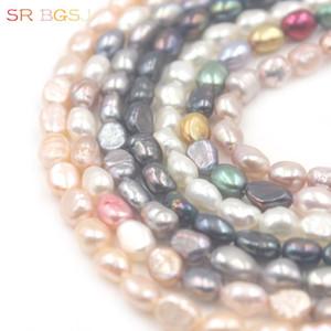 """Livraison gratuite SR 5x7mm Mini Petit Freeform baroque perles d'eau douce naturelle Spacer Bail graine pierres précieuses Perles en 15"""""""