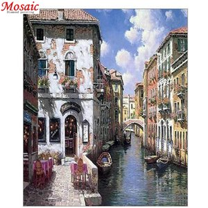 Venice, Italy city landscape,5D Diamond Embroidery painting full round drill diy mosaic decor