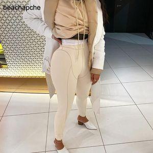 Calças beachapche Mulheres Leggings fitness Seamless barriga fitness cintura alta Workout calças slim Gym Sportswear