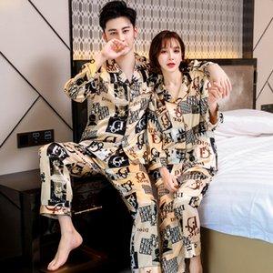 BZEL flores impressas Pijamas Womens Casal Pijamas Pijamas Mulheres Satin Mulher Pajama Wear Início Silk Pajama Set Início Suit Big Size Dropshi # 647