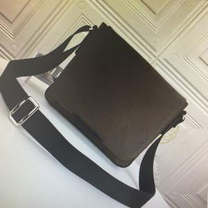 L'uomo copertina reale Leathe DISTRETTO Messenger Bag Mens Crossbody Borse in pelle Set Moda Shoulder Bag bagagli borsa della frizione del codice per N41212