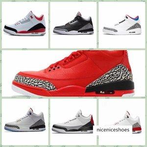 J003MA 2019 Hot venda Cheap Basketball aj 3 3s Mans Designer Shoes Tinker Katrina JTH Linell Chicago OG real CeMant sapatilhas 40-46