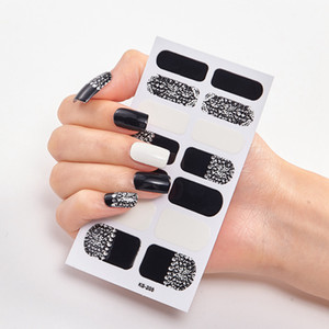Plein Nail Art Stickers Wraps polonais Leopard Decal bandes adhésives faux ongles design manucure 3D Brillant Nail Stickers RRA3560