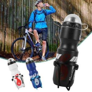 750ml Bisiklet Bisiklet Su İçecek Şişesi + Tutucu Dağ Bisikleti Taşınabilir Kupa Şişeler Holding Raf Su Şişesi Raf Tutucu Kafes