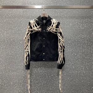 2020 novos homens Jaquetas de alta qualidade corda de algodão mão Pure usando tear jaqueta carro Brasão Streetwear Inverno Jacket Men
