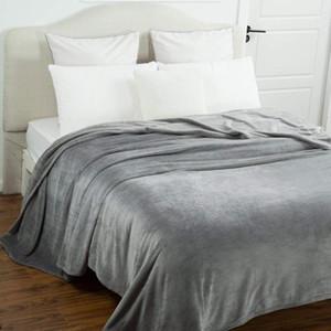Super Soft Blanket Solid Fleece Blankets for Beds Bedspread Travel Sofa Manta Warm Christmas Decorations for Home Decor