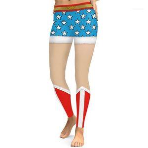 Female Clothing Fashion Leggings Slim Casual Apparel Womens Christmas Desinger 3D Print Pants Festival Style Winter