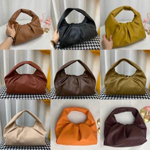 2020The bolsa de mulheres malas novas Moda sacolas genuíno bolsas de couro bolsa bolsa de embreagem das mulheres Nuvem Saco alta qualidade bolsas