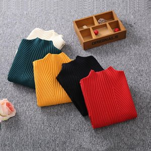 Benemaker Long Pullover For Girls Knitted Sweater 12 14 Years Teenager Children Clothes Kids Solid Winter Long Sleeve Tops NA076