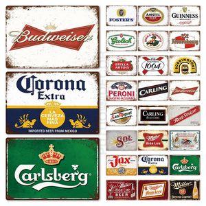 Guinness Beer metal Sinal da chapa Letters metal Vintage Pub Placa de lata placa de metal Wall Decor para Plates Bar Pub Clube caverna do homem decorativas