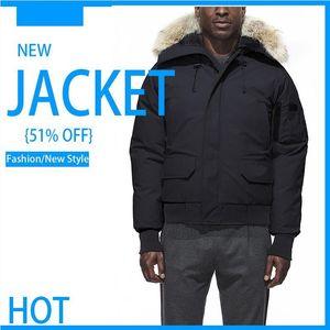 Parka homme Herren Winterjacke Mode Parka Kanada Warm Jacke Kapuze Schwarz Down-Designer Jacken Overcoat Luxus warmer Mantel Kleidung Doudoun