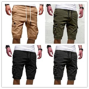 Teenager Loose Trousers Loose Drawstring Fifth Mens Pants Summer Solid Color Sports Shorts Pants