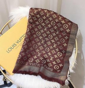 Sciarpa morbida di Fahsion Stile Donna primavera estate Bright Gold tinto in filo sciarpa scialle autunno per le donne Sciarpe Superficie 180 * 70cm
