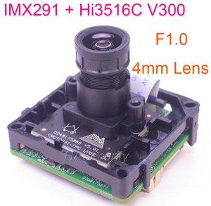 "F1.0 M12 Lens intelligent analisys H.265 1 2.8"" STARVIS IMX291 CMOS + Hi3516C V300 IP CCTV camera PCB board module +LAN cable"