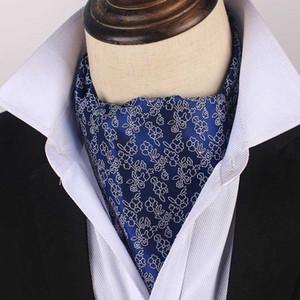 Linbaiway Erkek Ascot Tie Vintage Paisley Klasik Düğün Örgün Cravat Ascot Gentleman Polyester Boyun Kravat Özel LOGO Cravat