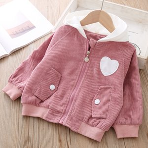 Baby jacket Autumn Spring Corduroy hoodie Cardigan Zipper shirt children's Coat For Girls outerwear Girl Clothes Sweatshirt 3yrs