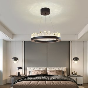 Living Room Crystal Chandelier Round Ceiling Chandelier Modern Kitchen Light LED Hanging Lamp Hotel Lobby Exhibition Hall
