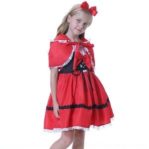 prestazioni 0vrI1 Halloween nuovo tavolo Little Red Hood costume Little Red Hat cosplay di ruolo Dress abito per bambini Equitazione