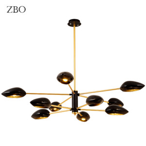 LED Nordic Chandelier Iron hall Bar Living Room Bedroom Dining clothing store Creativity personality E27 Indoor Lightings