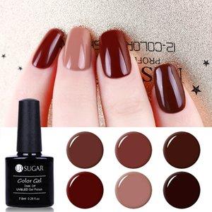 UR SUGAR LED UV Coffee Brown Color Series Gel Nail Polish Elegant Caramel Serie Soak Off Nail Art 7.5ML varnish Design Painting