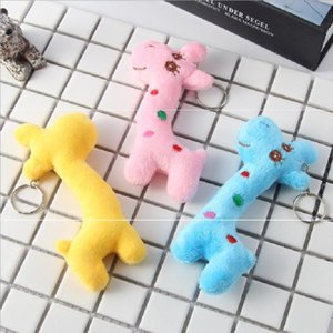 New Fashion Mini Mixed Color Cute Giraffe Kids Plush Toys Home Party Charms Pendant Gift Decorations Free Shipping 9-10CM Boom2015