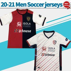 2021 Cagliari Calcio Soccer Jersey Home Joao Pedro Nandez Cerri 20/21 Мужчины футбольные рубашки выгодные вспомогательные футбольные формы