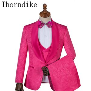 Thorndike Different Colors One Button Groom Tuxedos Shawl Lapel Groomsmen Best Man Suits Mens Wedding Suits Three Pieces Suits 200922