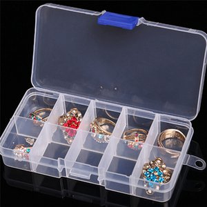 10Cases Nail Art Case для хранения Блеск драгоценных камней украшения Box Пустые Косметические Jar Горшки Контейнер возвратных бутылок