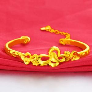 2020 Hot Vietnam golenali Gold Bangle mantenere il colore più recente oro braccialetti registrabili disegni di gioielli da sposa