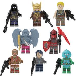 Fortnite Фалькон Merman Джоунси влажный Колобок Купидон Raven Red Knight Mini фигурку Fortnight Строительные блоки Кирпич игрушки