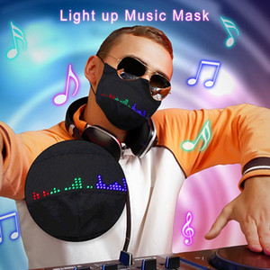 2020 Bluetooth APP Control Unisex LED Rave Mask Image Text Animation Editable Light Mask USB Rechargeable for Parties X'mas Halloween