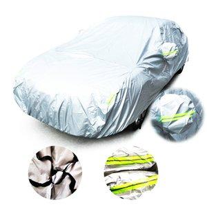 Cubiertas del coche universal Cubierta de protección resistente al aire libre de interior de la cubierta completa ULTRAVIOLETA de nieve polvo para cubiertas impermeables coche sedán