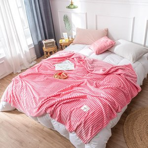 Pink Color Blankets for Beds Single Queen Flannel Cover Coral Fleece Blanket On the Bed Soft Warm Bedspread koc Christmas gift