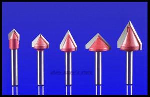 6x10mm 90/120 Degree routeur CNC Gravure sur bois 3D Bit Bit Travail du bois tungstène carbure Fin Mill Brand New EGBA #