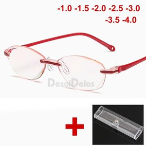 New Ultralight Rimless Reading Glasses Women Clear Lens Anti-Blu-Ray Computer Glass Presbyopia Reader Glasses with case