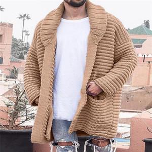 Pull en vrac Manteaux Hommes Designer Lapel Neck Cardigan Plus Size Knits avec poches Mode Casual Automne Hiver Vêtements hommes