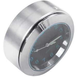 "Universal 7/8"" 1"" étanche Moto Moto Handlebar Mount Horloge Noir Royaume-Uni"