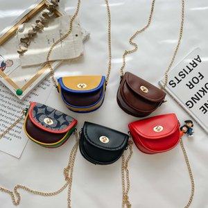 Ins Kids Mini Handbags Children Letter Printed Casual Mini Messenger Bags Girls One Shoulder Accessories Change Purse Women Bag S589