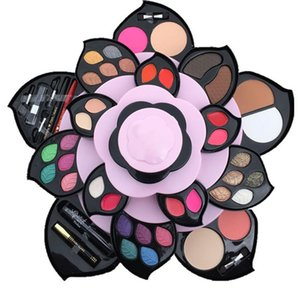 Порошковая Box Plum Blossom Вращающийся Set Eyeshadow Box Cosmetic Case Make Palette сделать инструменты 2020