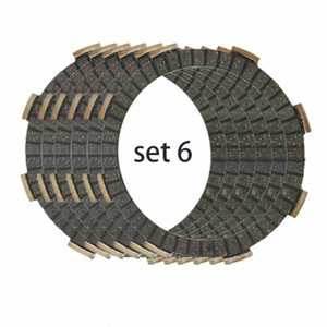 6 Piece Motorcycle CLUTCH disc FRICTION PLATE set for CR125 CRF150 REBEL 250 CB250 CR125R CRF150R CBF250 VT250C VTR250 d3m2#