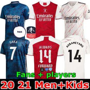 Arsen Fußball-Trikot 20 21 PEPE SAKA HENRY GUENDOUZI WILLIAN FA-Cup-Finale TIERNEY 2020 2021 Fußballhemd Männer + Kids kit IMMER 14 FORWARO