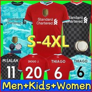 20 21 LVP M. SALAH maglia da calcio fan versione giocatore Mohamed FIRMINO MANE VIRGIL Maglia da calcio LiVerpool MILNER DIOGO J. THIAGO 2020 2021 Uomo Kit per bambini